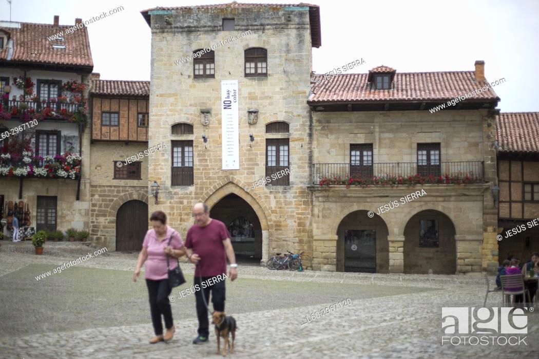 Stock Photo: Torre de Don Borja (XIVth and XVth). Santillana del Mar, Cantabria. Spain.