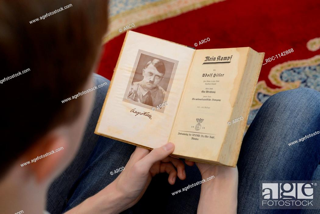 63952d37937ccd Buch, Adolf Hitler, Mein Kampf, Stock Photo, Picture And Rights ...