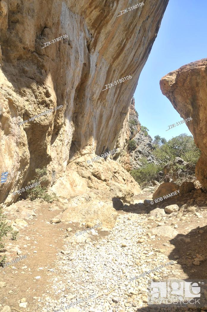 Stock Photo: Walking way before Sougia in Crete.