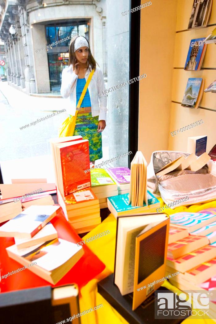Stock Photo: Book shop.