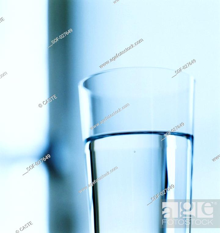 Stock Photo: glass of water.