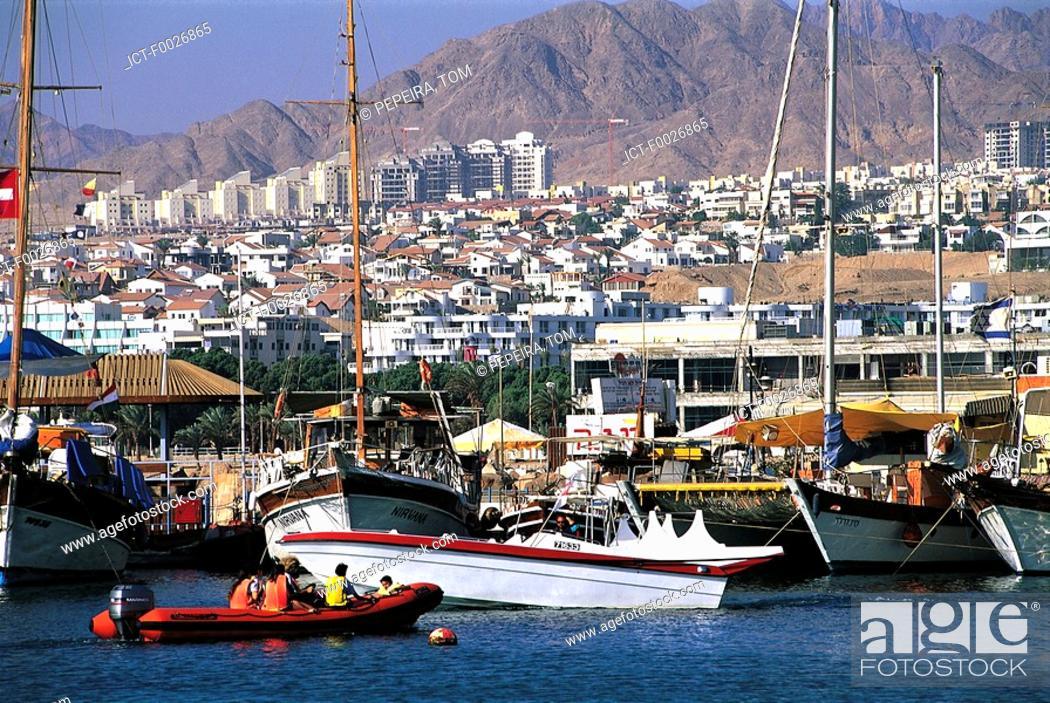 Stock Photo: Israel, Eilat, harbour.