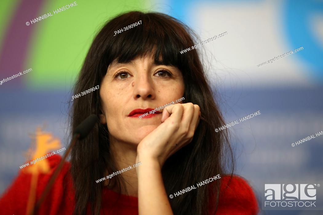 Stock Photo: French actress Romane Bohringer attends the press conference for the movie 'Vic+Flo Saw a Bear' ('Vic+Flo ont vu un ours') during the 63rd annual Berlin.