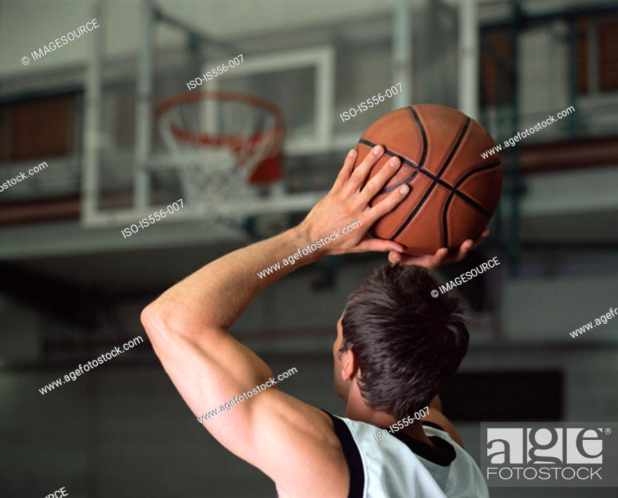 Stock Photo: Male basketball player.