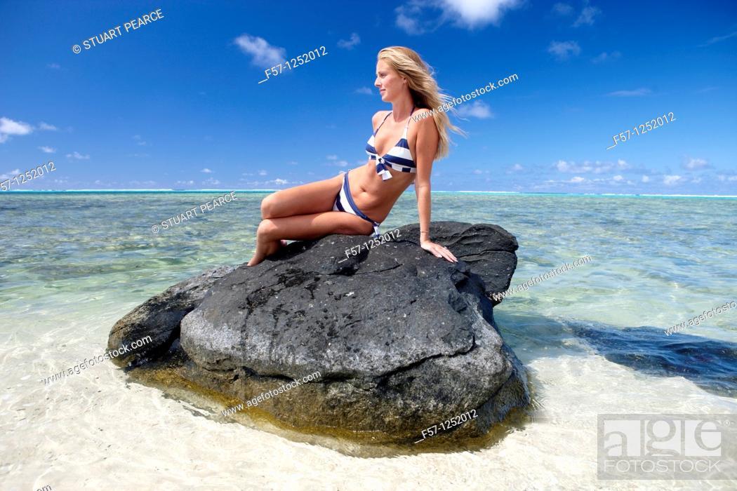 Stock Photo: Rarotonga, The Cook Islands.