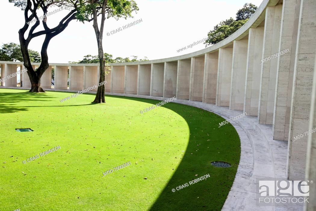 Stock Photo: Manila American Cemetery and Memorial, Manila, Philippines.