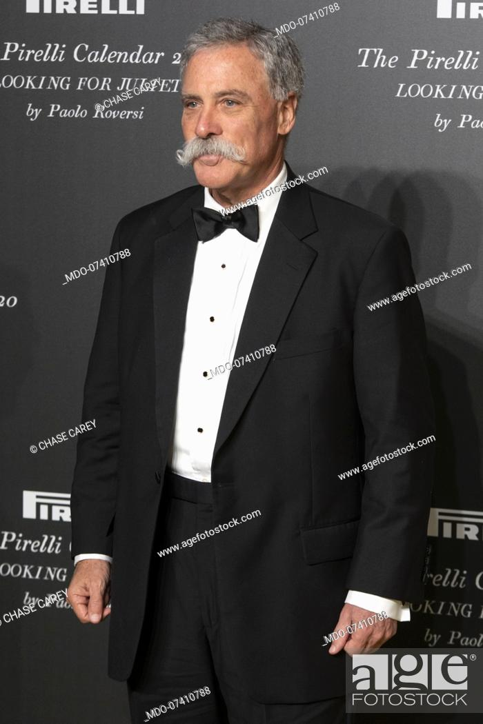 Stock Photo: American company manager Chase Carey during the presentation of the Pirelli 2020 Calendar at the Verona Philharmonic Theater.