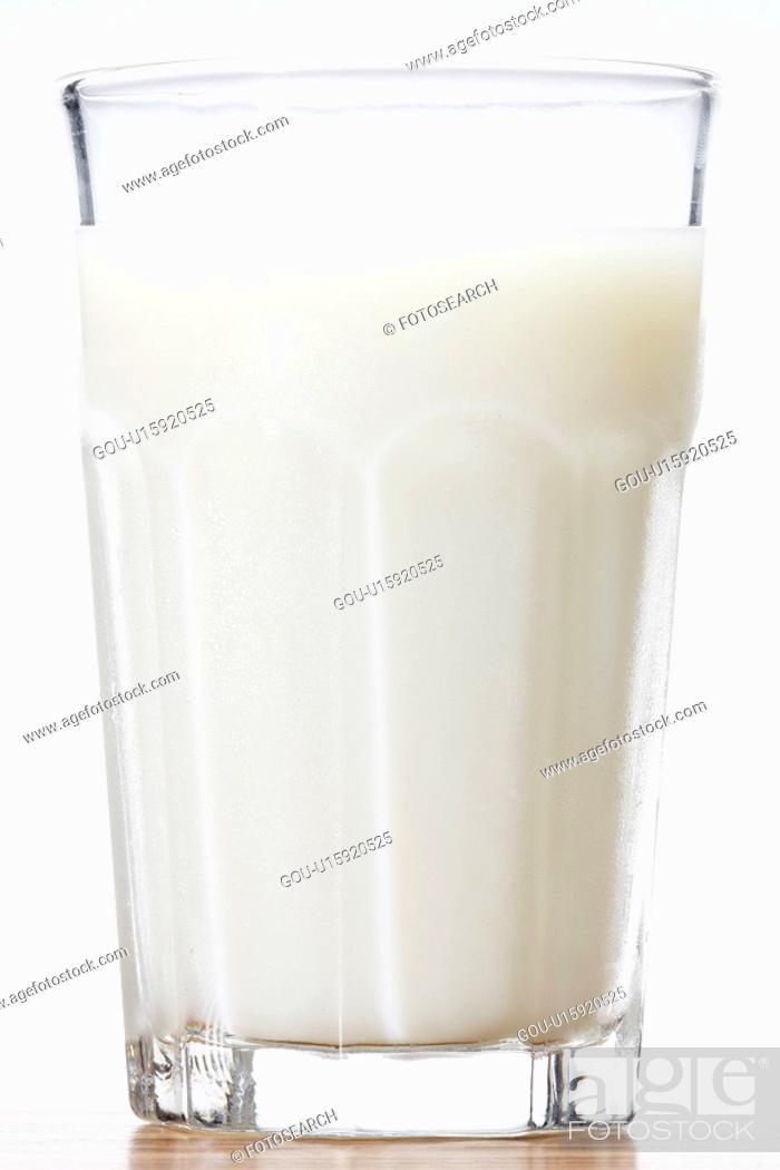 Stock Photo: Glass of milk (close-up).
