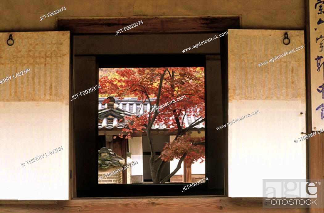 Stock Photo: South Korea, Seoul, Changdokkung palace, the Secret garden.