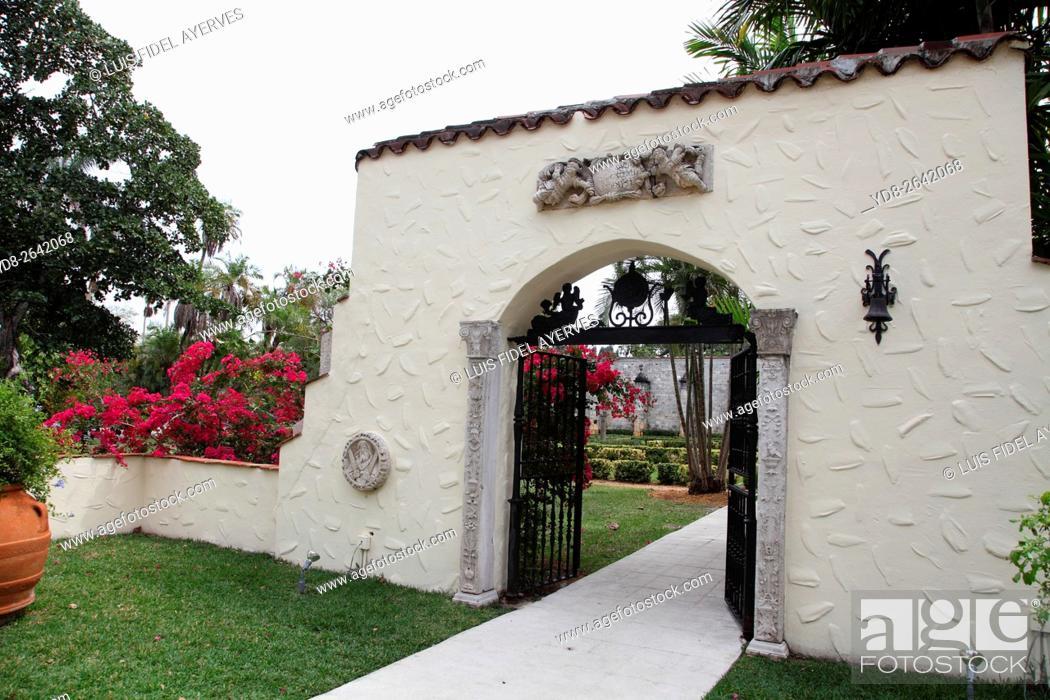 Stock Photo: Spanish Monastery in Miami, Florida, USA.