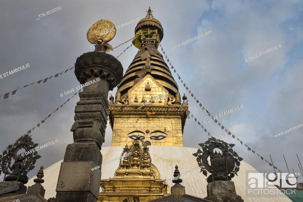 Imagen: Swayambhunath, the Monkey Temple, Kathmandu, Nepal.