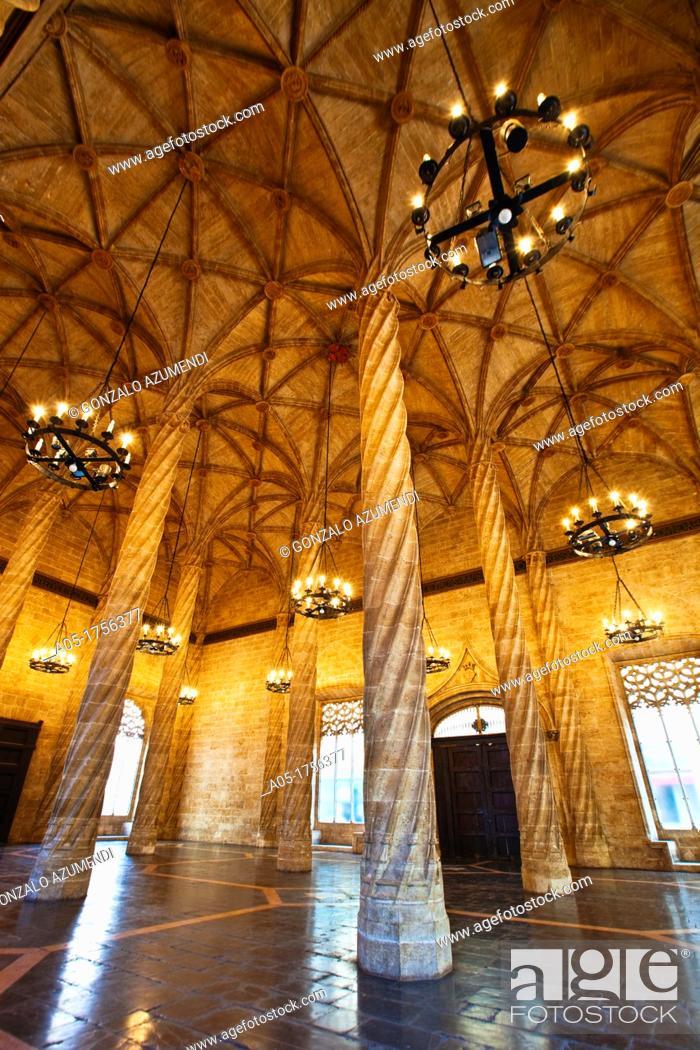 Stock Photo: La Lonja de la Seda  Silk Exchange  World Heritage Site by UNESCO  16th century  Valencia  Comunidad Valenciana  Spain.
