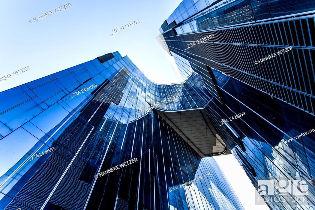Stock Photo: Edifici Gas Natural also Torre Mare Nostrum skyscraper in Barcelona, Catalonia, Spain.