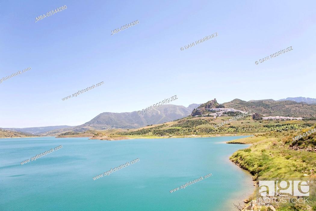 Stock Photo: Zahara de la Sierra, Cadiz Province, Andalusia, Spain.