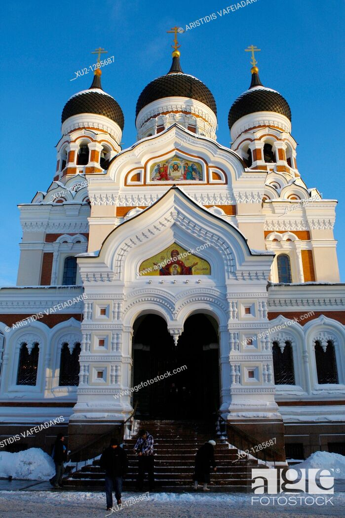 Stock Photo: Alexander Nevsky cathedral in Toompea  Christmas in Tallin Estonia.