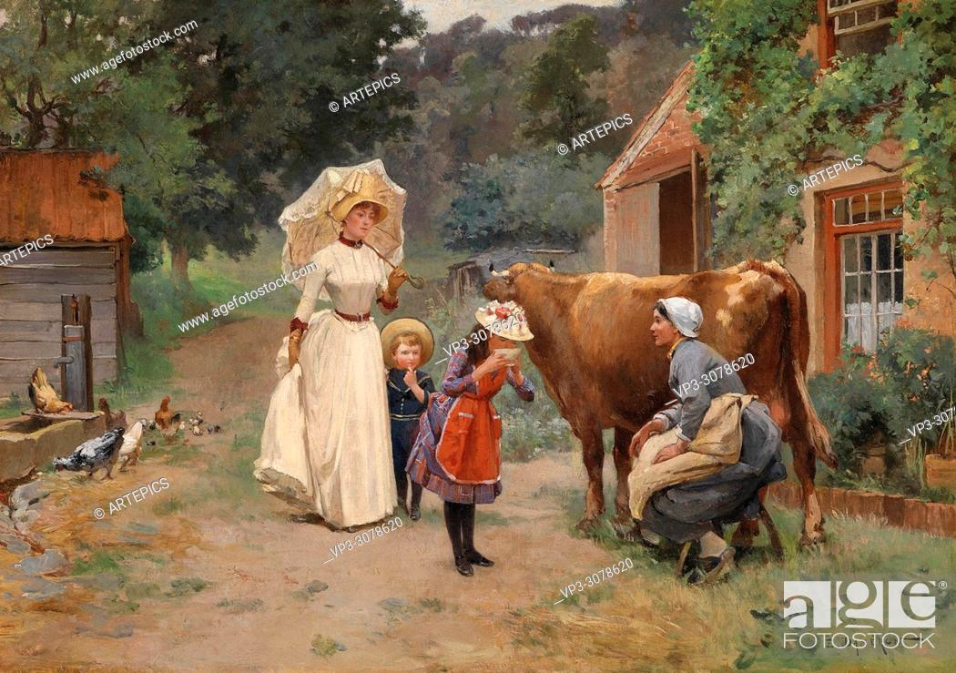 Stock Photo: Dameron Emile Charles - Visit to the Farm.