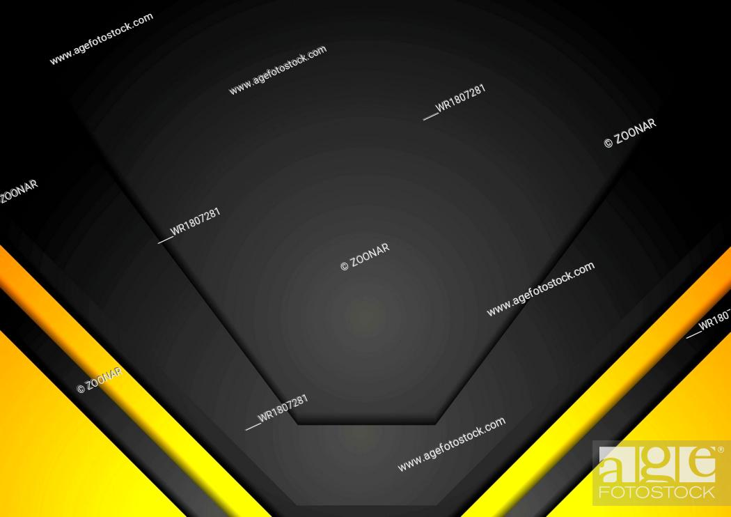 Imagen: Yellow and black corporate art background.