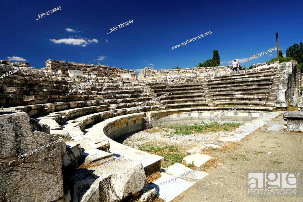 Stock Photo: Aphrodisias Odeion. Ancient Greece. Asia Minor. Turkey.