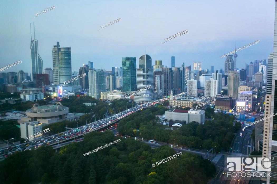 Imagen: Shanghai, China, shanghai skyline.