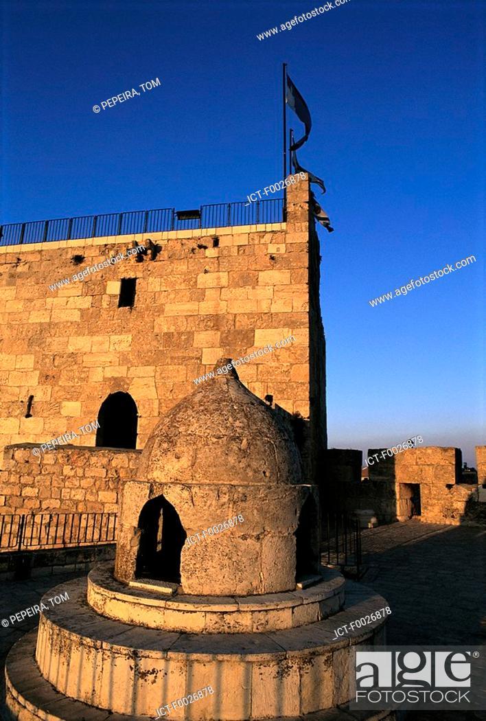 Stock Photo: Israel, Jerusalem, citadel.