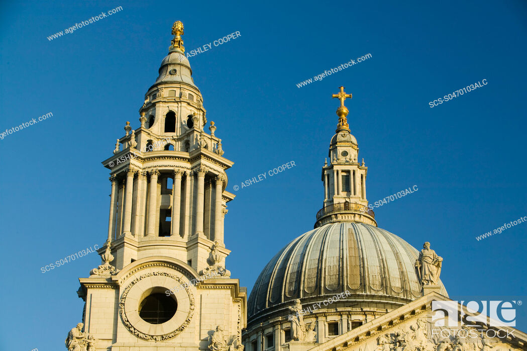 Stock Photo: St Pauls Cathedral in London UK.