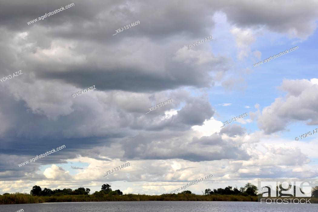 Stock Photo: Okavango delta, Botswana.