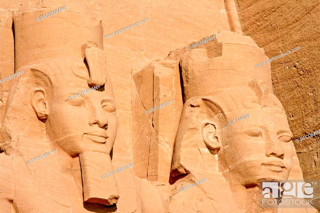Stock Photo: Egypt: Abu Simbel - Great Temple.