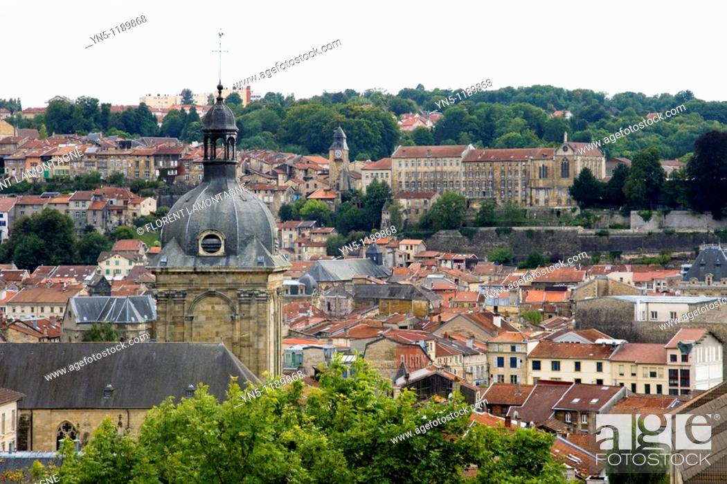 Stock Photo: France, Lorraine province, Departement of Meuse 55, Bar le Duc   View on the city and it center from the hights.
