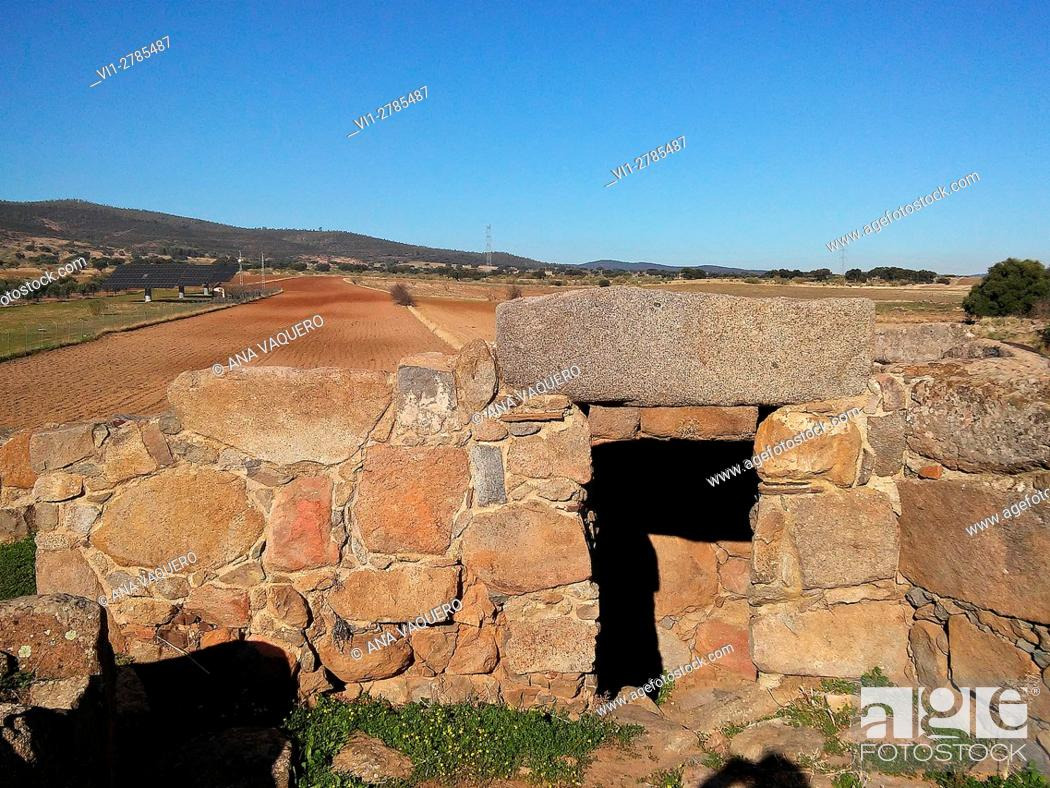 Stock Photo: protohistóricas ruins of Hijovejo, Badajoz, Extremadura, Spain.
