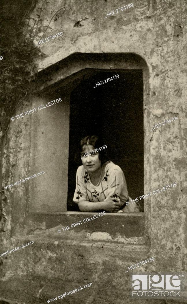 Stock Photo: 'The Duchess at Bisham Abbey', 1928. Creator: Unknown.