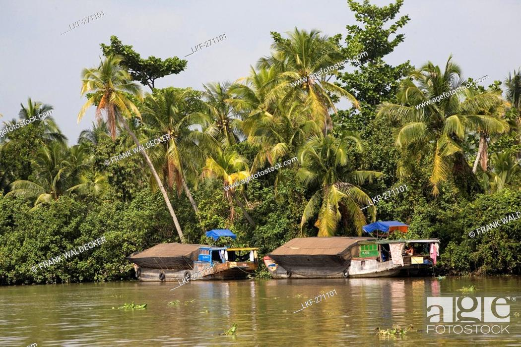 Stock Photo: Boats on the Mekong River, Mekong Delta, Can Tho Province, Vietnam, Asia.