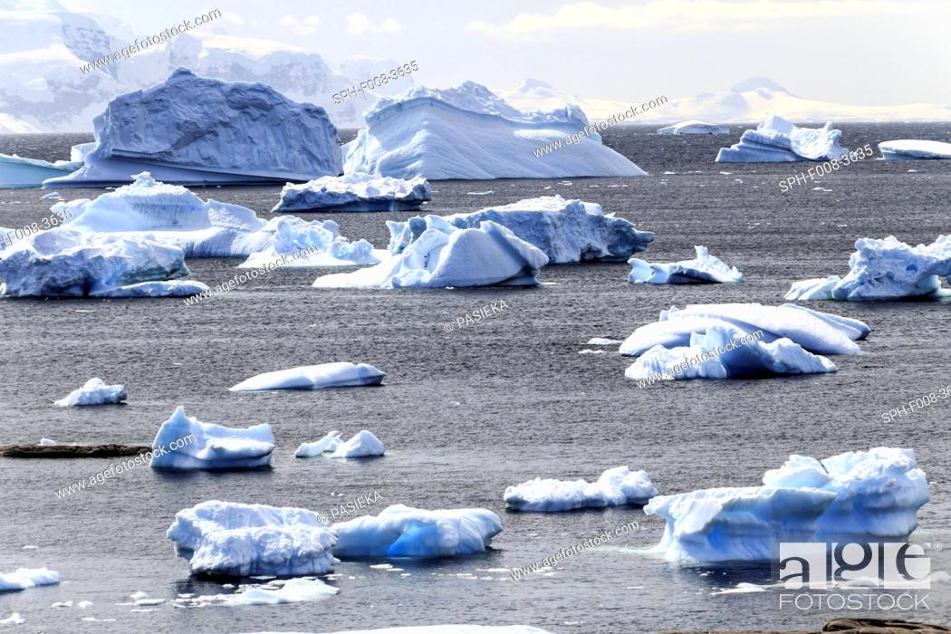 Imagen: Icebergs, Antarctica.