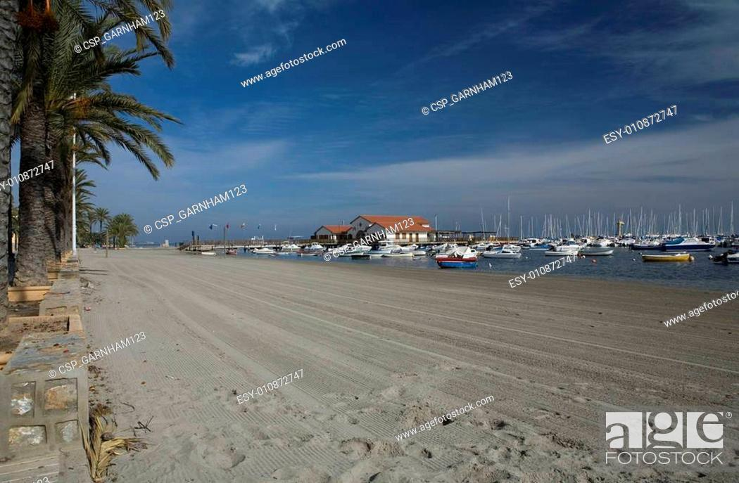 Stock Photo: Los Alcazares beach.