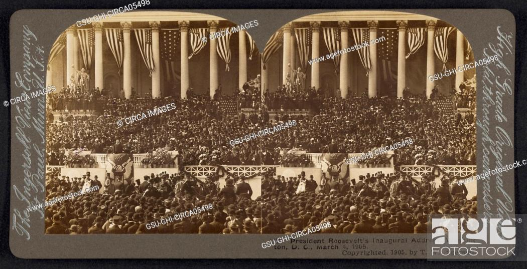 President Theodore Roosevelt's Inaugural Address, Washington DC, USA