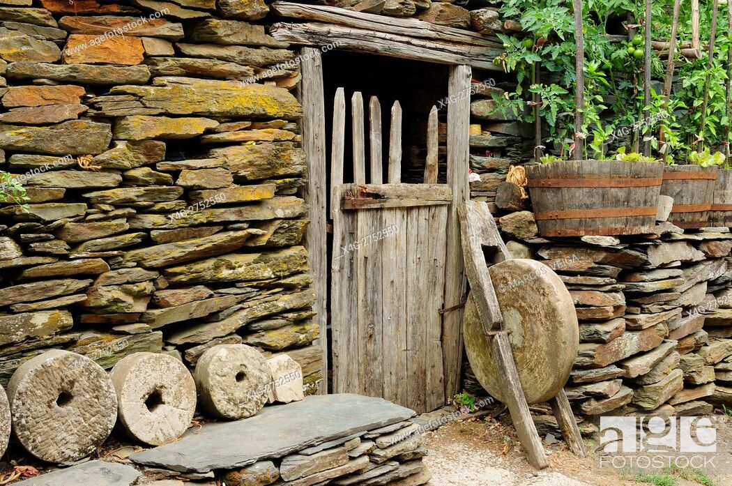Stock Photo: Old rural implements. Galicia, Spain.