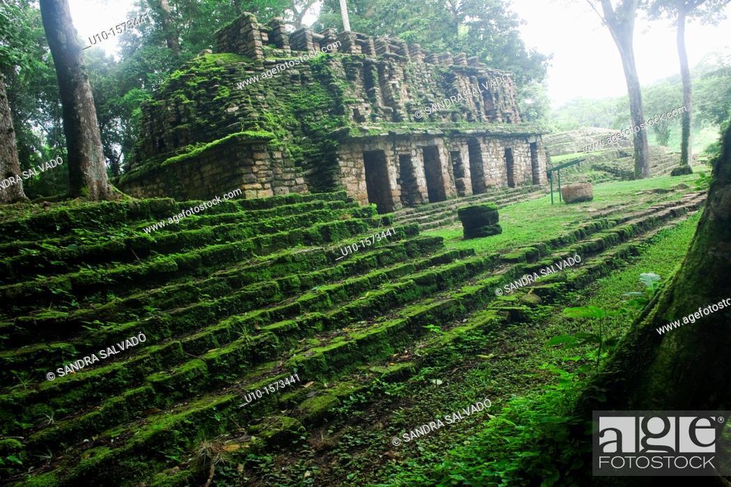 Photo de stock: The Río Usumacinta Valley, Yaxchilán Archaeological Site, Chiapas, México.
