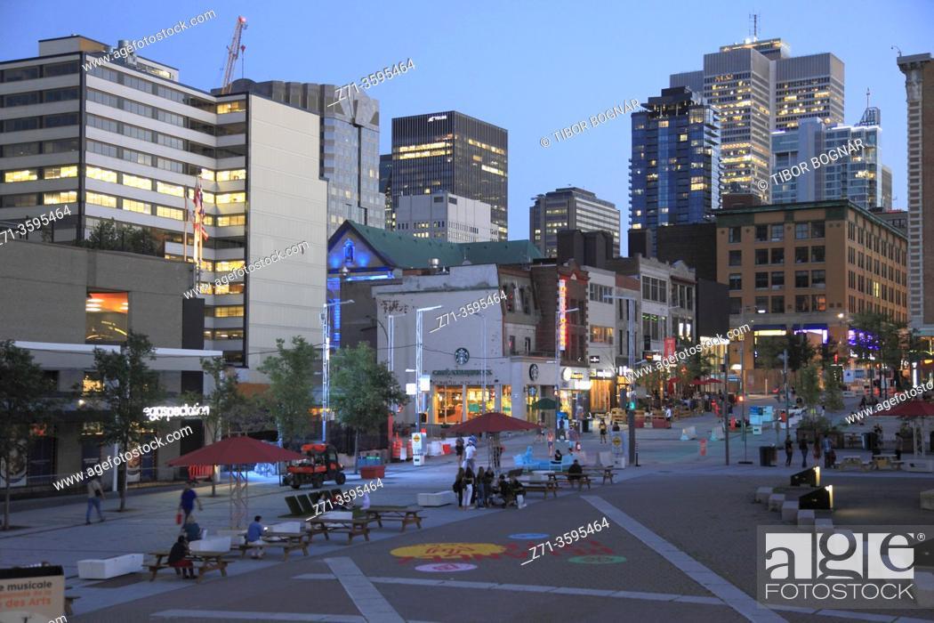 Stock Photo: Canada, Quebec, Montreal, Quartier des Spectacles, .