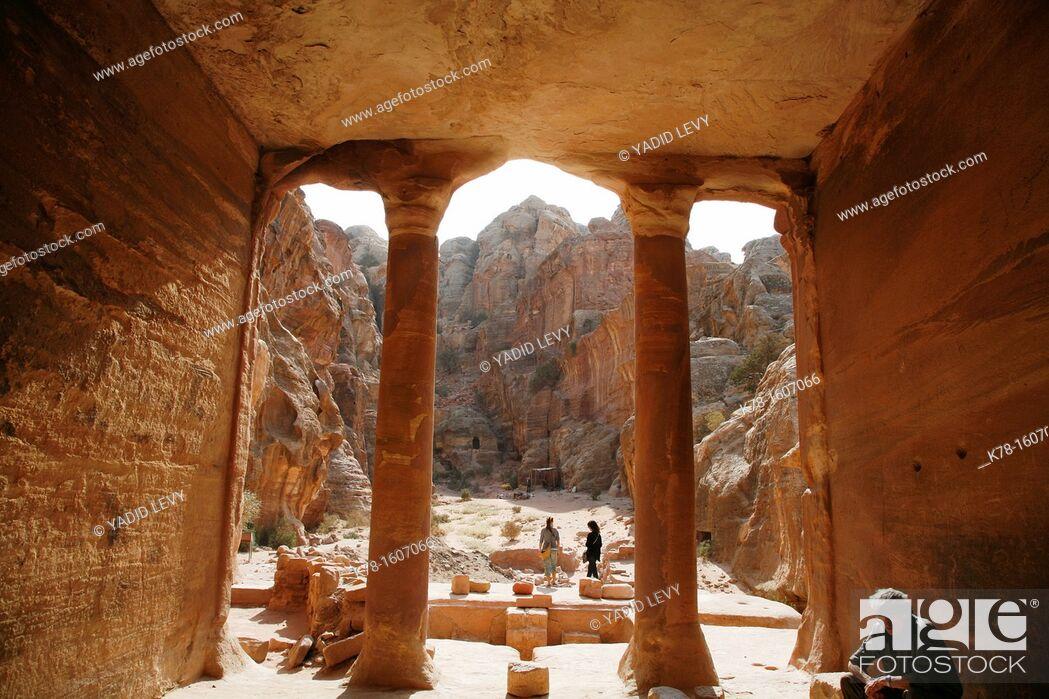Stock Photo: The Garden Tomb, Petra, Jordan.