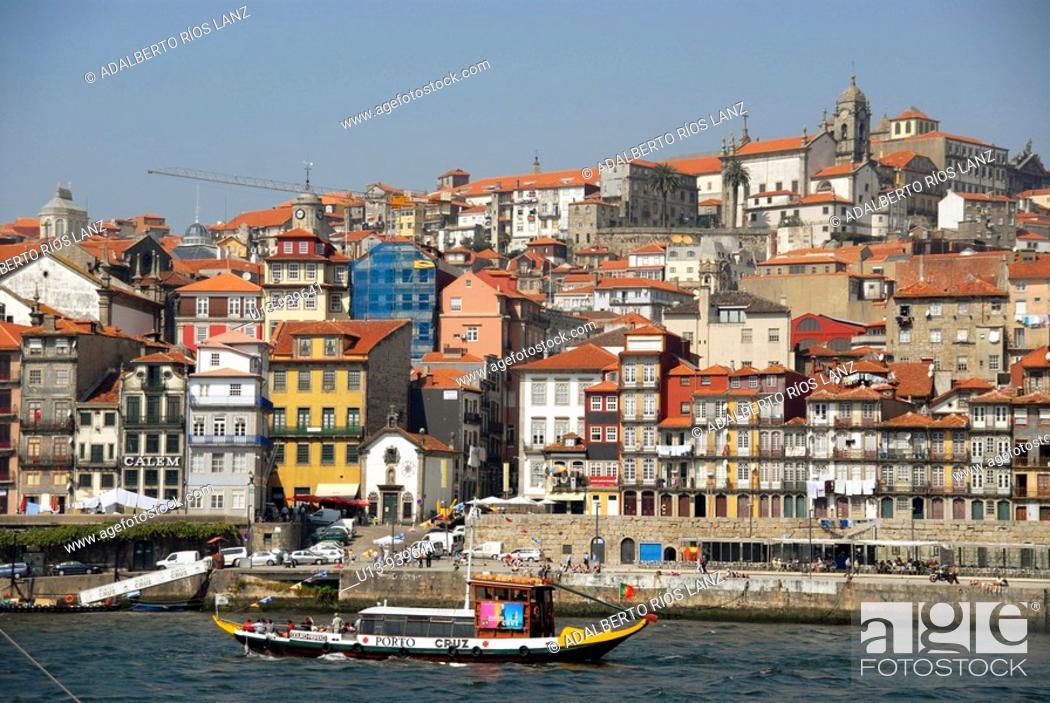 Stock Photo: Ribeira District, Oporto, Portugal, Europe.