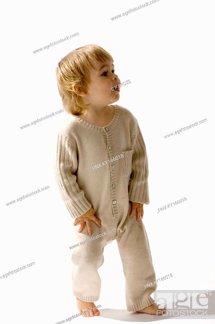 Stock Photo: Baby boy walking.