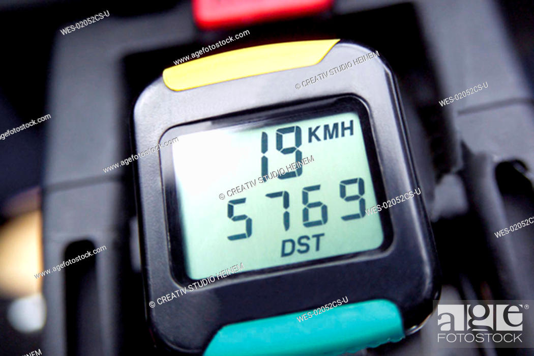 Stock Photo: speedometer of a bicycle.