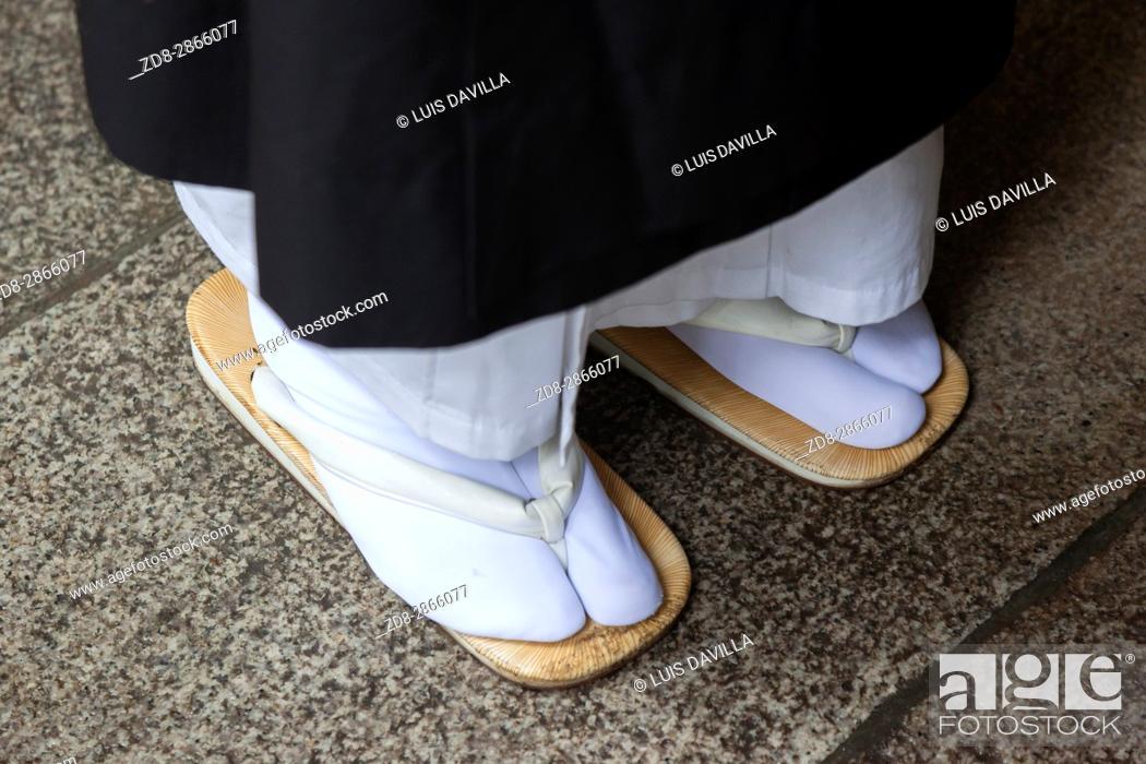 Stock Photo: Zori japanese sandal in Koyasan is primarily known as the world headquarters of the Koyasan Shingon sect of Japanese Buddhism.