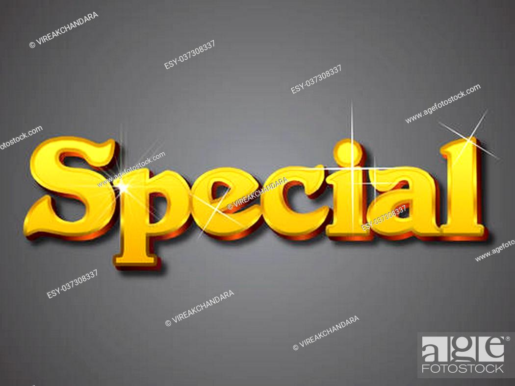 Stock Vector: Vector illustrator format. Designed with big font in golden shining color.