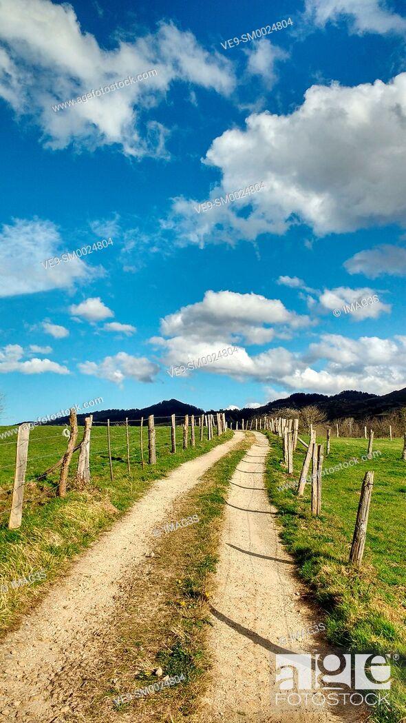 Imagen: Rural landscape near Nava village, Asturias, Spain.