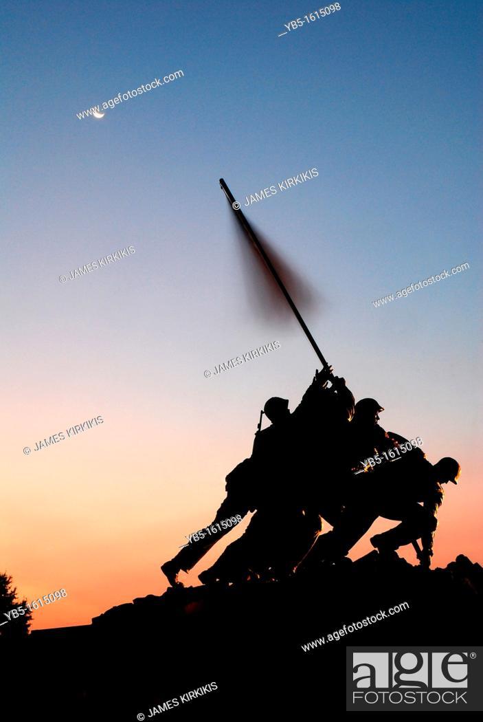 Stock Photo: Iwo Jima Memorial, Arlington.