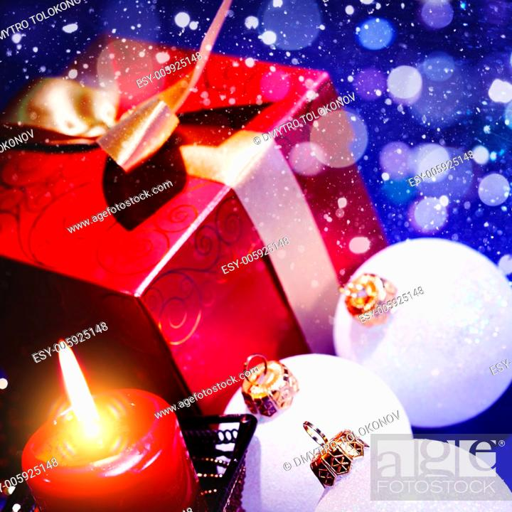 Stock Photo: Abstract Christmas background.