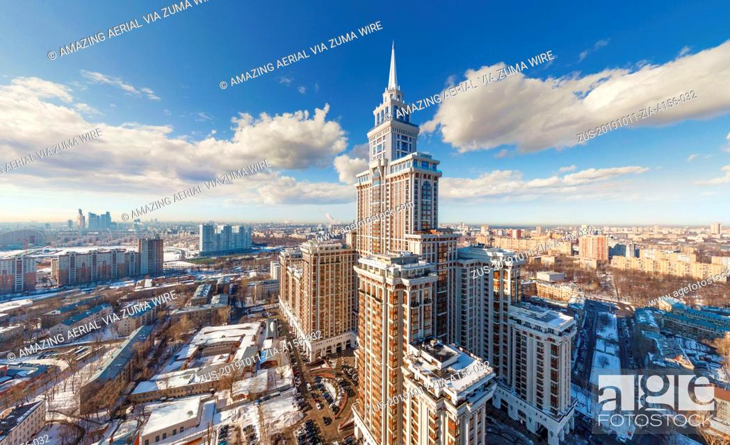 Imagen: October 11, 2019, Moscow, Russia: Aerial view of Triumph Palace in Moscow, Russia (Credit Image: © Airpano Llc/Amazing Aerial via ZUMA Wire).