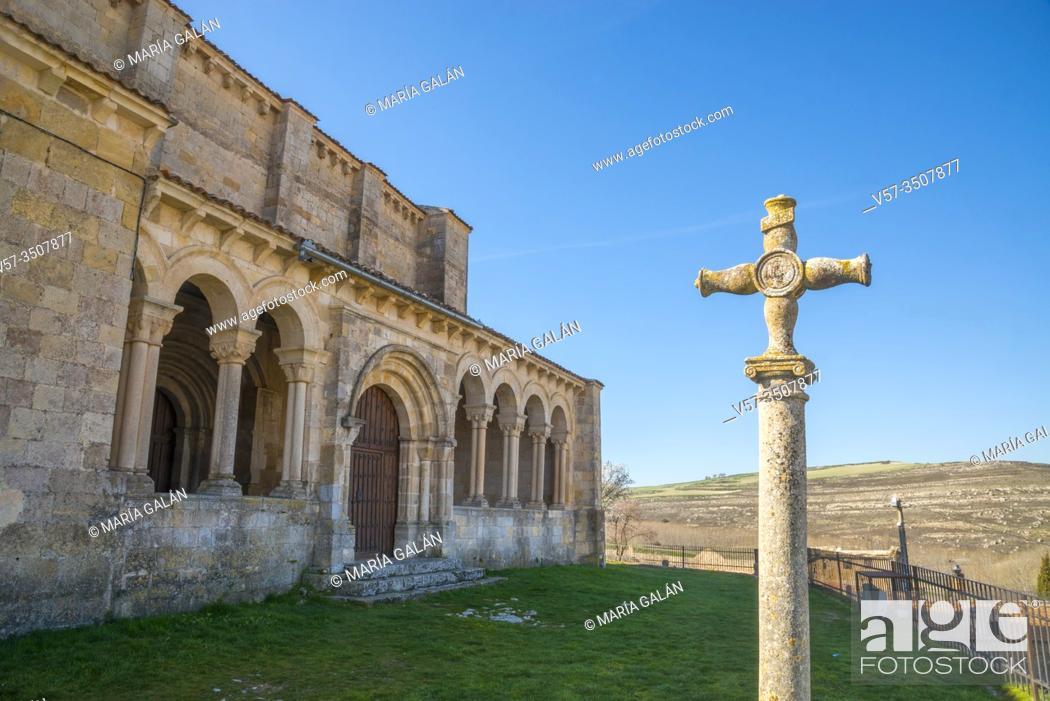Stock Photo: Atrium of San Miguel church. Fuentidueña, Segovia province, Castilla Leon, Spain.