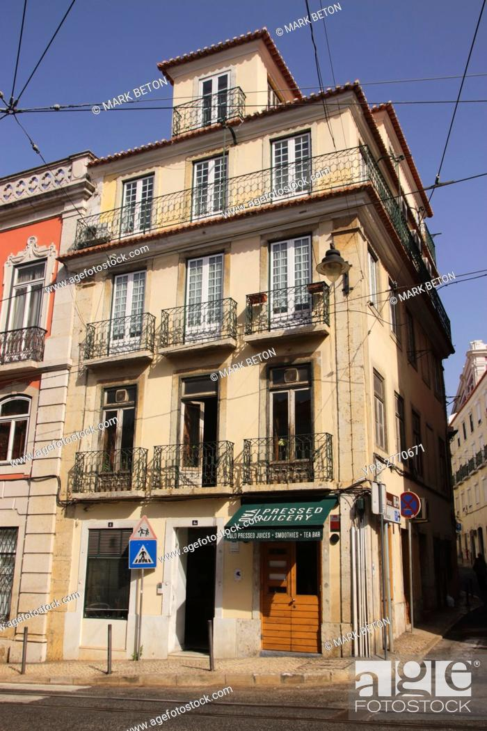 Stock Photo: Yao Pressed Juicery Restaurant Bairro Alto Lisbon Portugal.