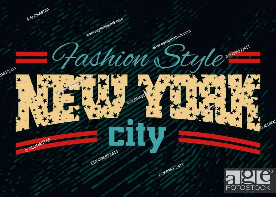 New York City Typography Graphic Fashion Stylish Printing Design For T Shirt And Sports Wear Stock Vector Vector And Low Budget Royalty Free Image Pic Esy 036972411 Agefotostock